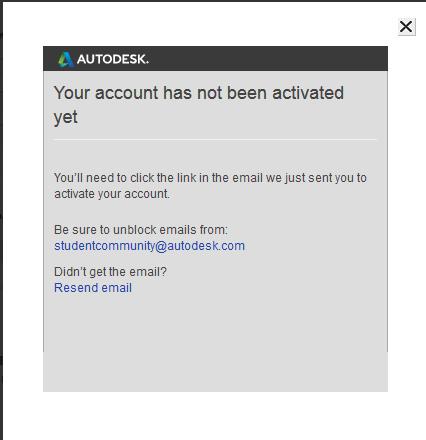 Форма  активации учетной записи на сайте Autodesk