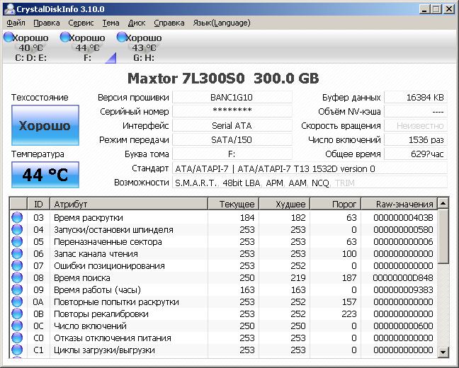Программа управления твердым диском на российском