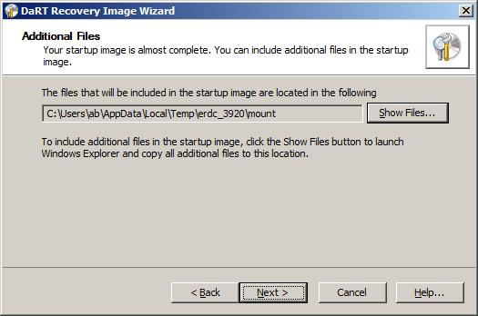 DaRT 7 - добавление пользовательских файлов