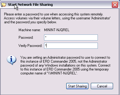 ERD Commander - Networking 