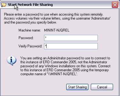 ERD Commander - Networking Tools