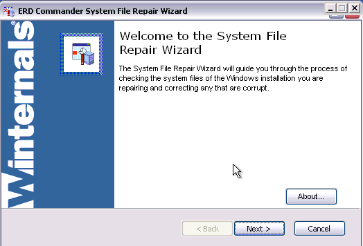 ERD Commander -  System File Repair