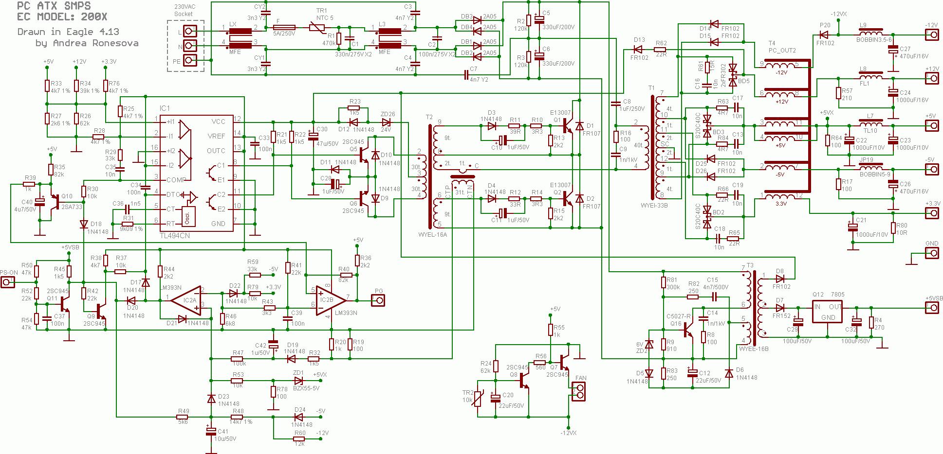Berühmt Pc Netzteil Schema Bilder - Elektrische Schaltplan-Ideen ...