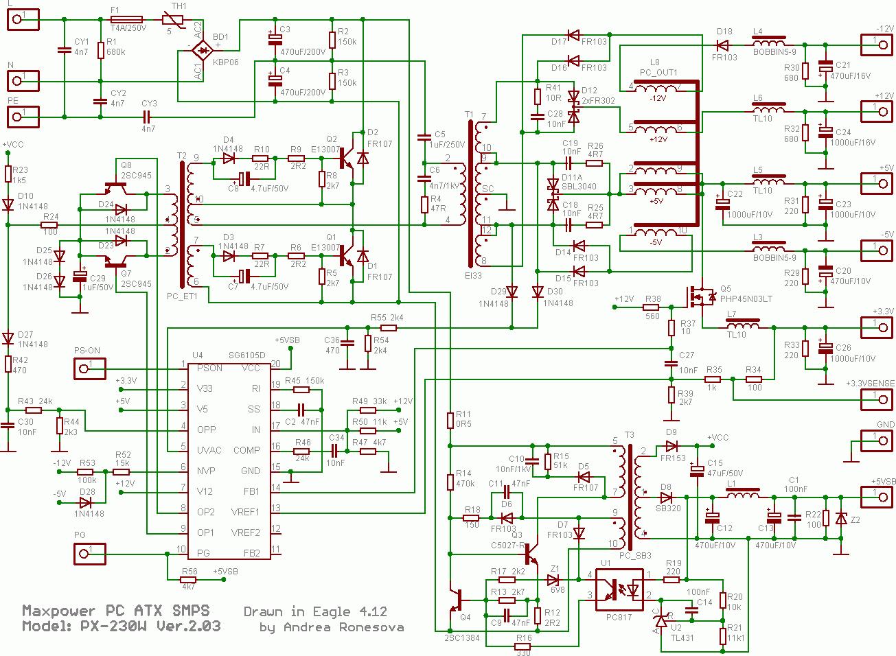 Großartig Atx Schematisch Fotos - Schaltplan Serie Circuit ...