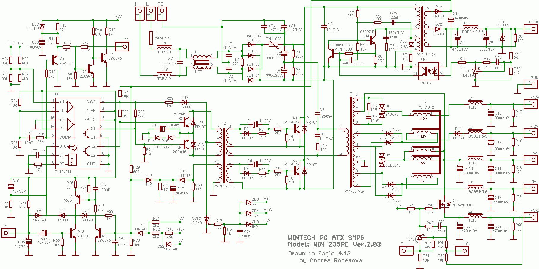 Ungewöhnlich Atx Stromversorgungsschaltplan Fotos - Schaltplan Serie ...
