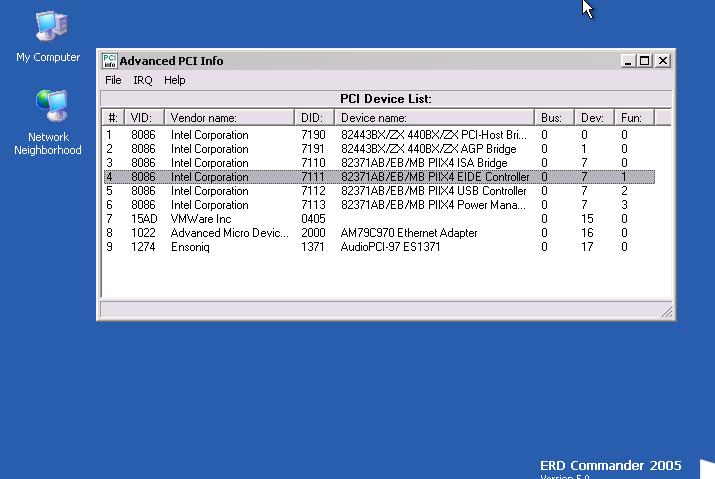 Advanced PCI Info Utility