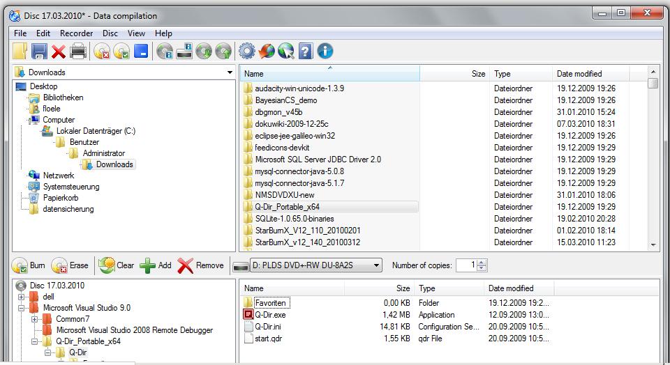 CDBurnerXP - бесплатная замена Nero