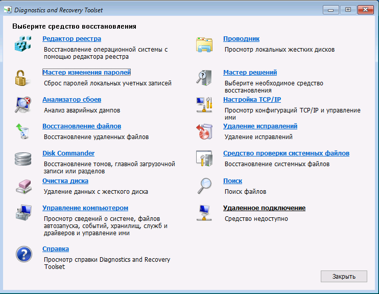 Набор инструментов MS DaRT 10