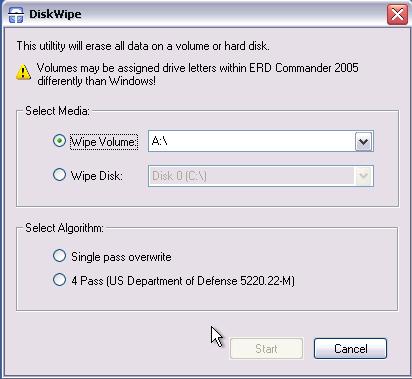 ERD Commander - Disk Commander