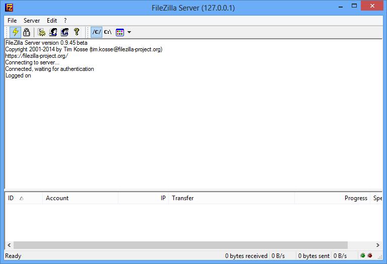 Панель управления   FileZilla Server