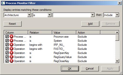 Process Monitor от Sysinternals