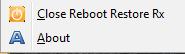 Отмена восстановления при загрузке Reboot Restore Rx