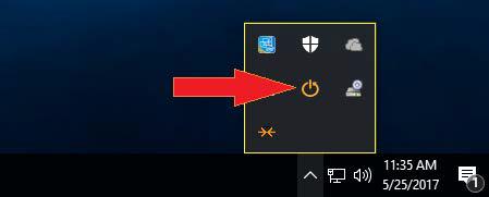 Значок на панели задач (System Tray Icon) Reboot Restore Rx Pro