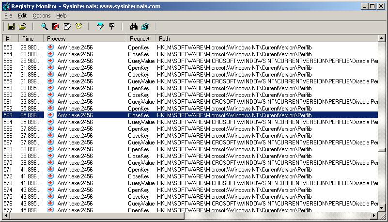 Мониторинг обращений к реестру с помощью regmon