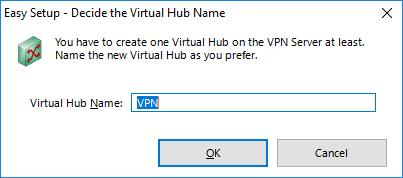 Создание виртуального хаба  SoftEther VPN Server