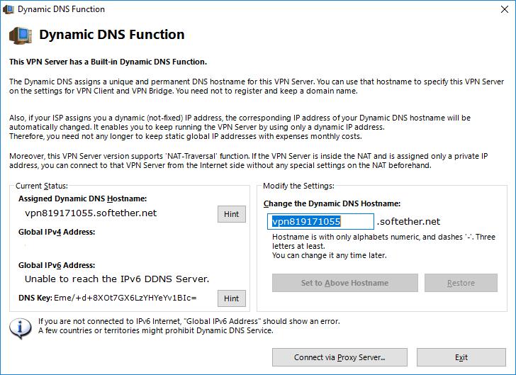 Настройка динамического DNS  SoftEther VPN Server