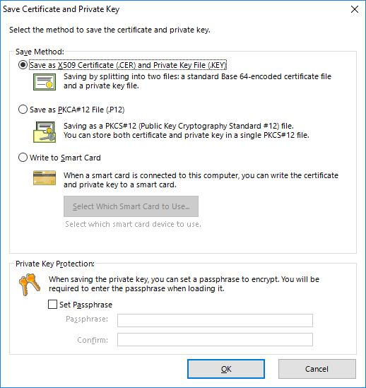 Сохранение сертификата пользователя для доступа к SoftEther VPN Server.