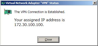 Подключение к SoftEther VPN Server установлено, получен IP-адрес.