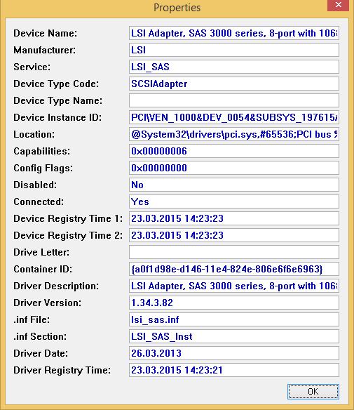 Свойства SCSI-контроллера жесткого диска в VMware Workstation